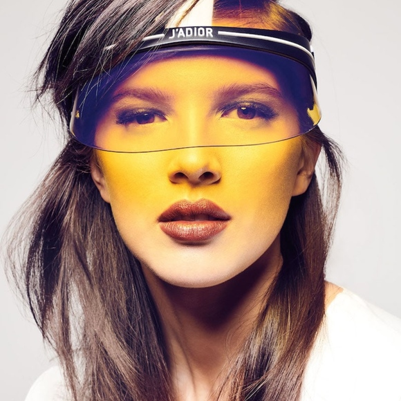 759adc375c507 Dior Club 1 Yellow Visor And Versace 2150q private